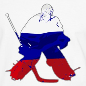 Hockey Keeper - Russia Flag T-Shirts - Männer Kontrast-T-Shirt