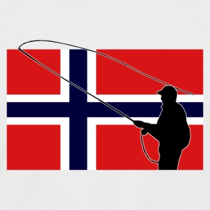 Norway Fishing Flag T-Shirts - Männer Baseball-T-Shirt