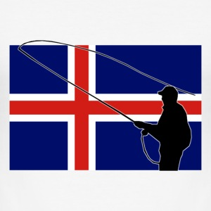 Iceland Fishing Flag T-Shirts - Männer Slim Fit T-Shirt