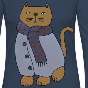 Winter cat t-shirt for women - Women's Premium Longsleeve Shirt