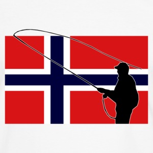 Norway Fishing Flag T-Shirts - Männer Kontrast-T-Shirt