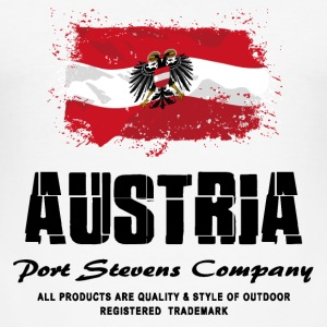 Austria Flag Logo T-Shirts - Männer Slim Fit T-Shirt