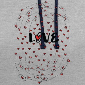 Love love love  Contrast Colour Hoodie - Contrast Colour Hoodie