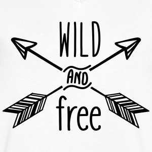 AD Wild and Free T-shirts - Mannen T-shirt met V-hals