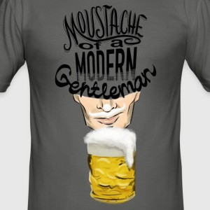 Beer Moustache T-Shirts - Men's Slim Fit T-Shirt