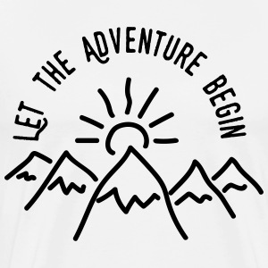 AD Let the Adventure Begin T-Shirts - Männer Premium T-Shirt
