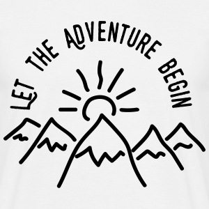 AD Let the Adventure Begin T-skjorter - T-skjorte for menn