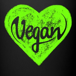 Vegan - a heart for animals, protection, nature,   Mugs & Drinkware - Full Colour Mug