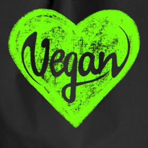 Vegan - a heart for animals, protection, nature,   Väskor & ryggsäckar - Gymnastikpåse