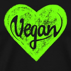 Vegan - a heart for animals, protection, nature,   - Männer Premium T-Shirt