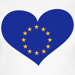 Europa Herz; Heart Europe T-Shirts - Frauen T-Shirt