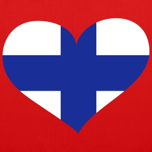 Finnland  Herz; Heart Finland Bags & Backpacks - EarthPositive Tote Bag