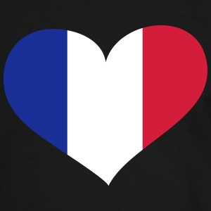 Frankreich  Herz; Heart France Tee shirts - T-shirt contraste Homme