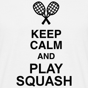 Squash Sport Game Match Champion Victory T-shirts - Mannen T-shirt