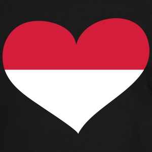 Indonesien Herz; Heart Indonesia T-shirts - Herre kontrast-T-shirt