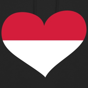 Indonesien Herz; Heart Indonesia Hoodies & Sweatshirts - Unisex Hoodie