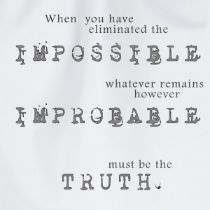 Impossible Improbable Truth Bags & Backpacks - Drawstring Bag