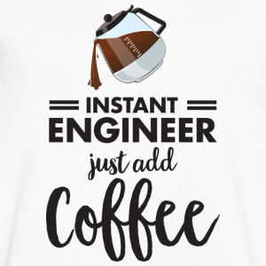 Instant Engineer - Just Add Coffee T-Shirts - Männer T-Shirt mit V-Ausschnitt