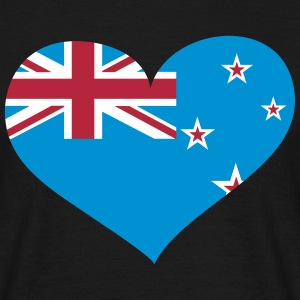Neuseeland Herz; Heart New Zealand T-skjorter - T-skjorte for menn