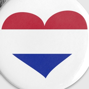 Niederlande Herz; Heart Netherlands Buttons - Buttons small 25 mm