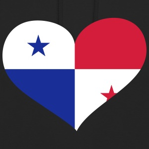 Panama Herz; Heart Panama Sweat-shirts - Sweat-shirt à capuche unisexe