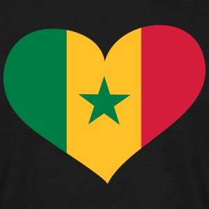 Senegal Herz; Heart Senegal T-shirts - Mannen T-shirt