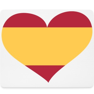 Spanien Herz; Heart Spain Other - Mouse Pad (horizontal)