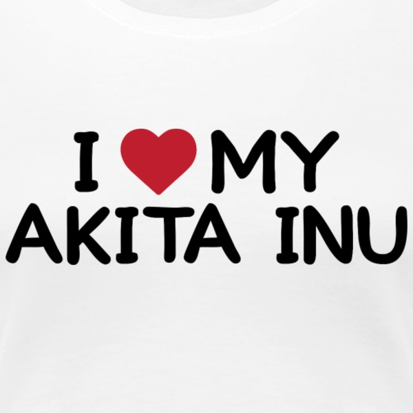 I love my Akita Inu - Women's Premium T-Shirt