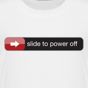 slide to power off baby T-Shirts - Kinder Premium T-Shirt