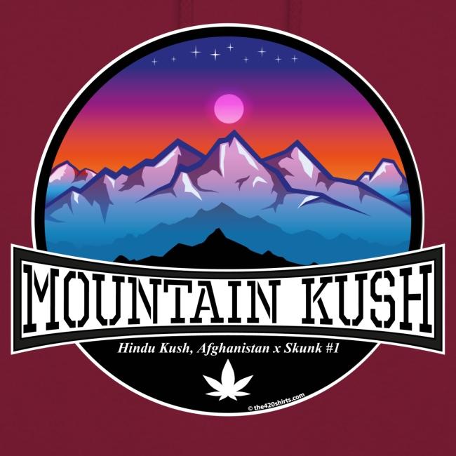 Mountain Kush / Sorte - unisex Hoodie