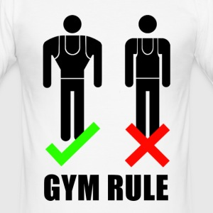 GYM RULE T-Shirts - Männer Slim Fit T-Shirt