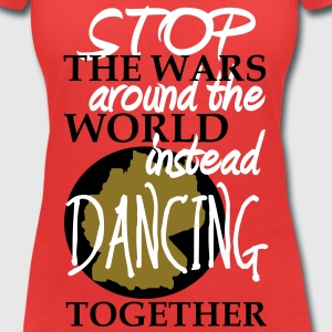 stop the wars around the word - instead dancing T-Shirts - Frauen T-Shirt mit V-Ausschnitt