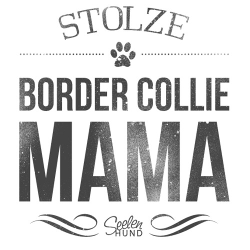 Stolze Border Collie-Mama