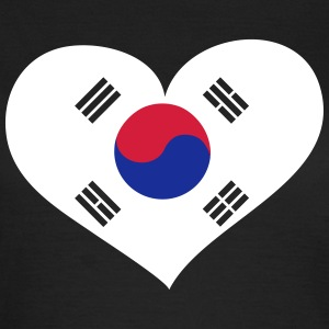 Südkorea Herz; Heart South Korea T-shirts - T-shirt dam