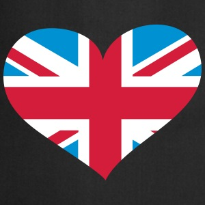 United Kingdom Herz; Heart UK Delantales - Delantal de cocina