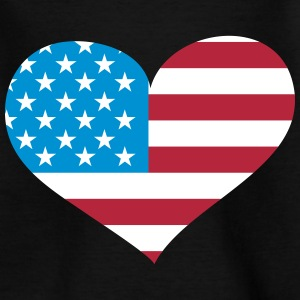 USA  Herz; Heart USA T-Shirts - Kinder T-Shirt