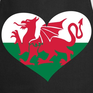 Wales Herz; Heart Wales  Aprons - Cooking Apron