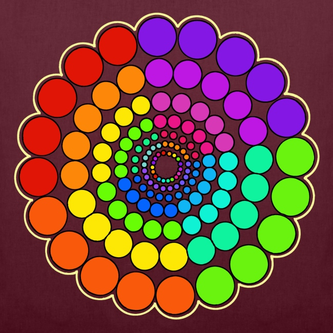 Rainbow Spectrum Mandala