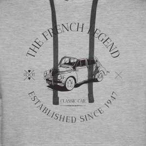 RENAULT 4CV FRENCH CAR Sweat-shirts - Sweat-shirt à capuche Premium pour hommes