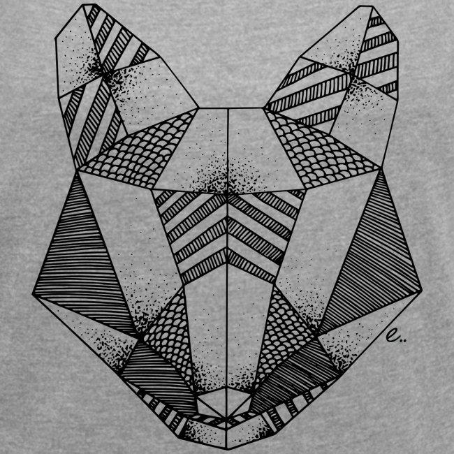 "T-Shirt Femme ""Tête de renard origami"""