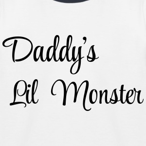 Daddy's little monster Shirts - Kids' Baseball T-Shirt