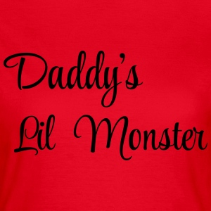 Daddy's little monster T-shirts - Dame-T-shirt
