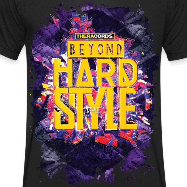 T-shirt V neck Beyond Hardstyle (purple)