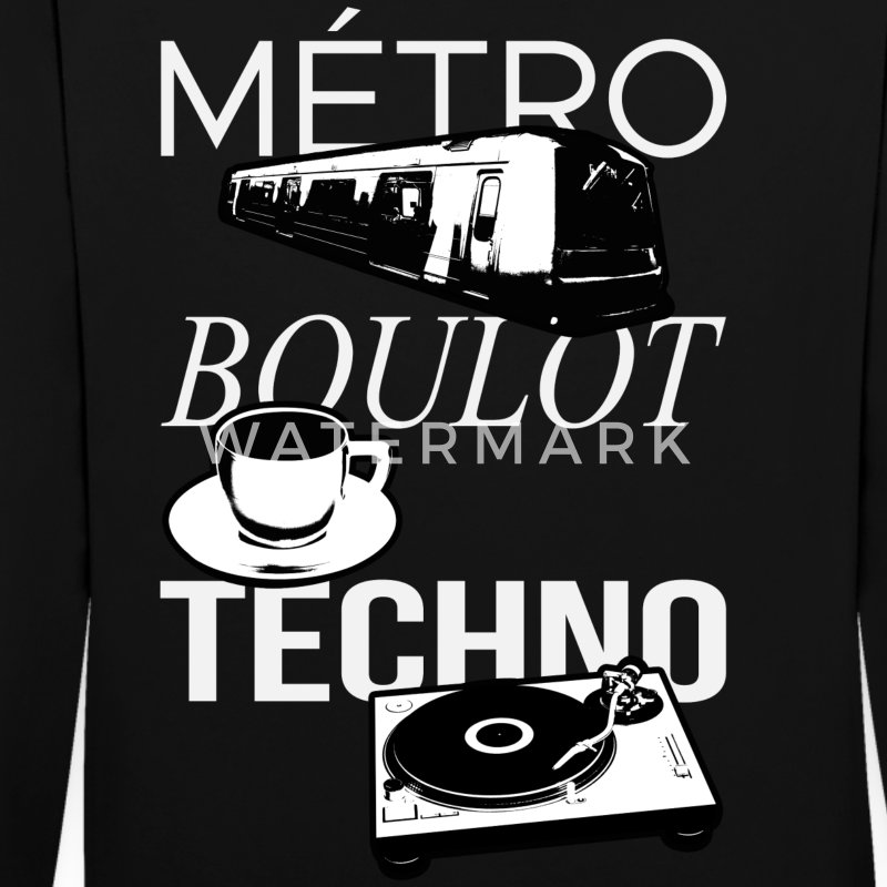 Metro Boulot TECHNO! Sweat-shirts - Sweat-shirt contraste