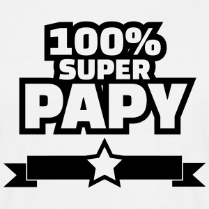 100% super papy Tee shirts - T-shirt Homme