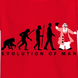 evolution_des_mannes_clown_09_201601_3c T-Shirts - Kinder T-Shirt