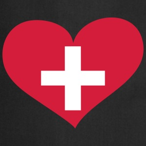 Schweiz Herz; Heart Switzerland Tabliers - Tablier de cuisine