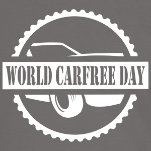 World CarFREE Day T-Shirts - Männer Kontrast-T-Shirt