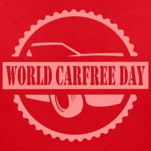 World CarFREE Day T-Shirts - Frauen T-Shirt mit V-Ausschnitt