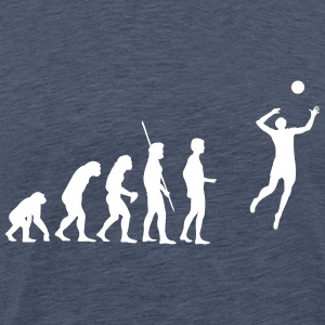 evolutie Volleyball T-shirts - Mannen Premium T-shirt